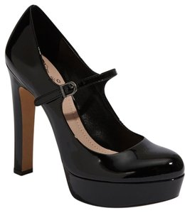 Vince Camuto Classic Patent Leather Comfortable Leather Black Platforms