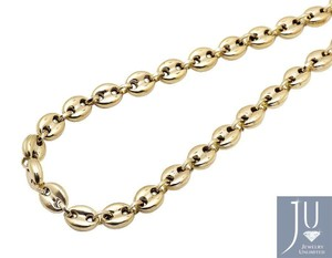 Other 7MM Wide Puffed Mariner Anchor Link Chain Necklace 24 Inches