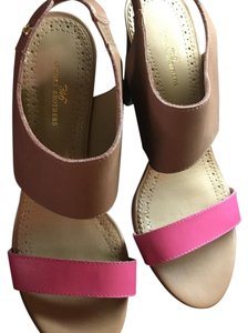 Brooks Brothers Tan and Pink Sandals