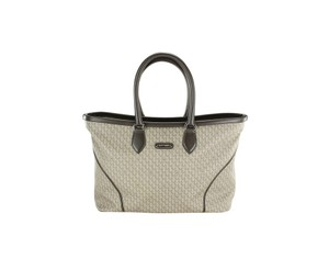 Montblanc Leather Travel Patterned Tote in Brown