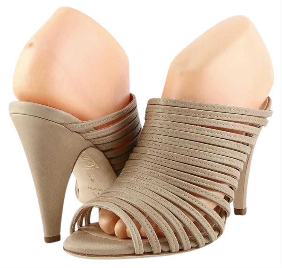 Loeffler Strappy Randall Nude Rue Leather Strappy Loeffler Sandals 26dce0