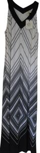 Black and White Maxi Dress by Chico's Summer Sleevless Size Xs