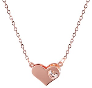 Master Of Bling Heart Design Choker Dainty Pendant.Comes With 18 Inches Chain