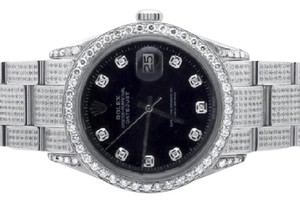 Rolex Mens Stainless Steel Rolex Datejust Oyster Diamond Watch with 7.5 Ct