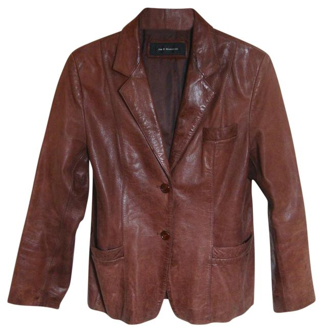 Jim & Mary Lou Vintage Brown Leather Jacket Image 0