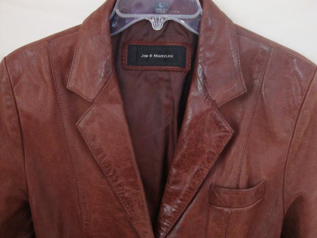 Jim & Mary Lou Vintage Brown Leather Jacket Image 1