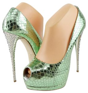 Giuseppe Zanotti Platform Evening Green Pumps