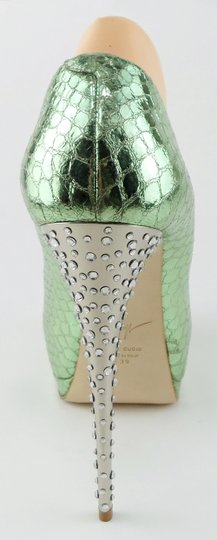 Giuseppe Zanotti Platform Evening Green Pumps Image 4