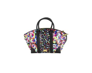 Boutique Moschino Patterned Leather Women Bags Gold Hardware Tote in Multi-Color