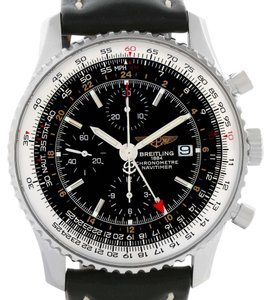 Breitling Breitling Navitimer World GMT Steel Black Dial Watch A24322 Year 2013