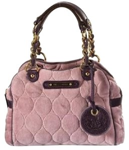 Juicy Couture Quilted Circles Velour Cross Body Bag