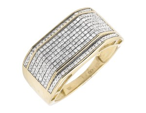 Other 12MM Wave Design Pave Diamond Wedding Band Pinky Ring 0.65ct.