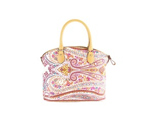 Etro Paisley Colorful Leather Crossbody Tote in Multi-Color