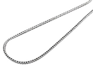 Other 10K White Gold 1.8MM Wide Franco Box Link Chain Necklace 20 Inches