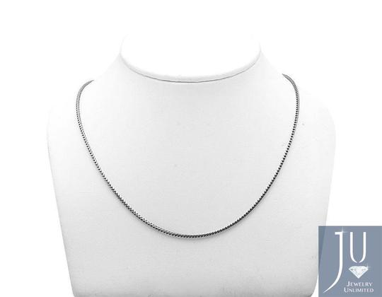 Other 10K White Gold 1.8MM Wide Franco Box Link Chain Necklace 20 Inches Image 1