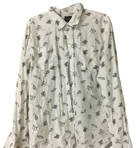 Hot Topic Button Down Shirt White