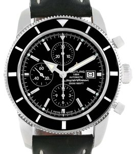 Breitling Breitling SuperOcean Heritage Chrono 46 Black Leather Strap Watch A133