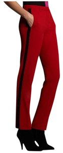 Narciso Rodriguez Skinny Pants Red w/ Black stripe