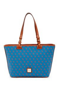 Dooney & Bourke Tote in Blue / Red