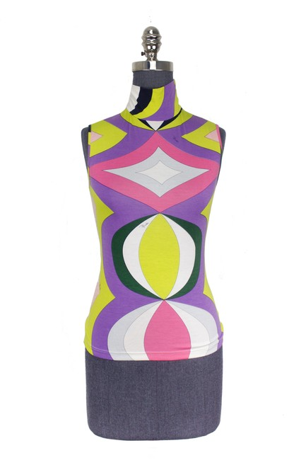 Preload https://img-static.tradesy.com/item/21212172/emilio-pucci-multicolor-abstract-printed-sleeveless-tank-topcami-size-8-m-0-1-650-650.jpg