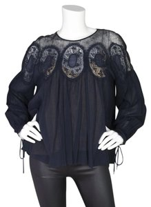 Chloé Chloe Lace Parachute Top Navy and nude
