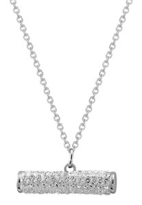 Master Of Bling Iced Out Sideways Bar Pendant Stainless Steel Simulated Diamond Dainty