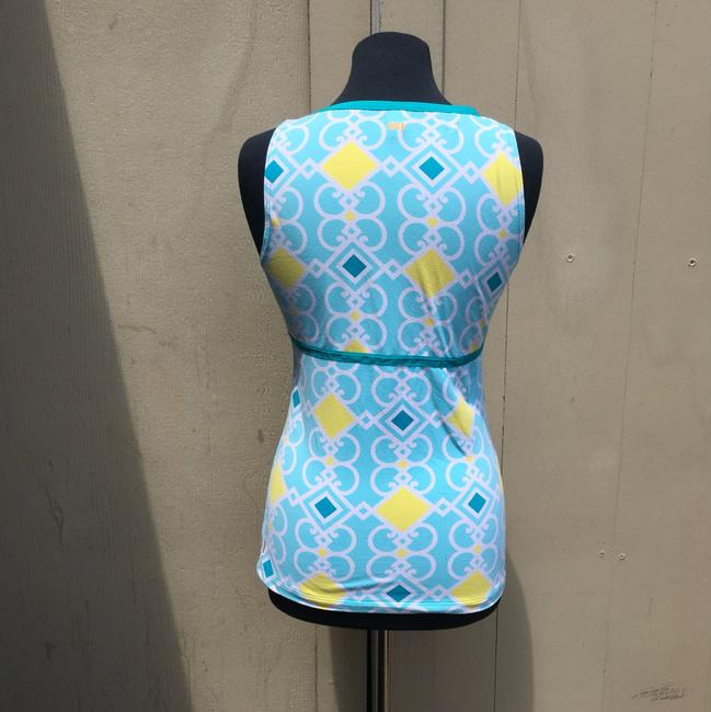 lucy Top blue and yellow Image 1
