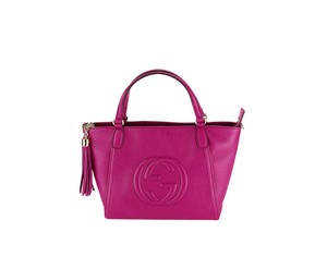 Gucci Textured Leather Women Tote in Pink