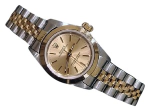 Rolex Ladies Rolex Two-Tone 18K/SS Oyster Perpetual Champagne 67183