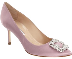 Manolo Blahnik 'hangisi' Purple Pumps