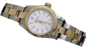 Rolex Ladies Rolex Two-Tone 18K/SS Oyster Perpetual White 67193