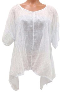 J P Mattie Bohemian Cotton Festival Pintuck Top White