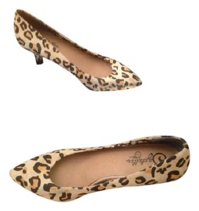 Seychelles Leather 7.5 Small Heeled Leopard print Pumps