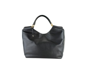 Dolce&Gabbana Leather Gold Hardware Tote Grained Hobo Bag