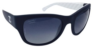 Chanel New Chanel Black and White Square Sporty Sunglasses 6049 c.1478/S8 55