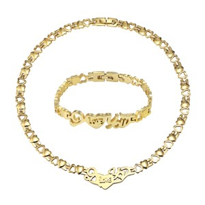Master Of Bling 14k Gold Finish Stampato Love You 18