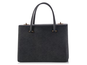 Prada Pr.k1208.15 Nero Gold Hardware Ghw Satchel in Black