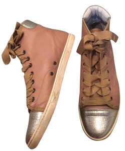 Lanvin Luxury Sneakers Cute Sneakers Sneakers Ribbon Lace pink, silver, light pink Athletic