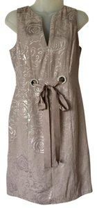 Vertigo Paris Size Small Sleeveless V-neck Grosgrain Ribbon Bling Detail Dress