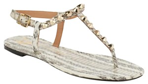 Vince Camuto white snakeskin Sandals