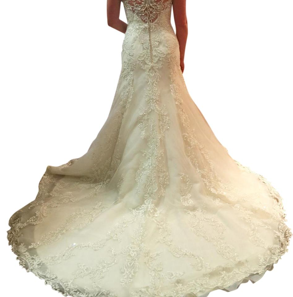 Sottero and Midgley Ivory/ Pewter Monticella Vintage Wedding Dress ...