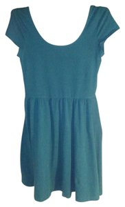 Mossimo Supply Co. short dress turquoise Spring Summer A-line Comfortable on Tradesy