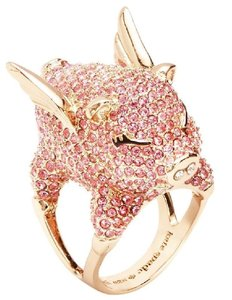 Kate Spade New Kate Spade Pave Flying Pig Cocktail Ring Pink Pave