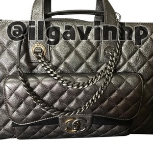Chanel Tote in Metallic Silver
