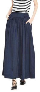 Banana Republic Preppy Maxi Skirt Navy