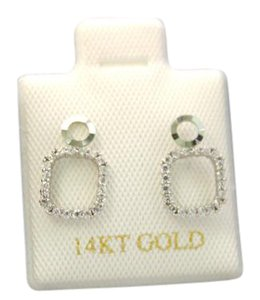 Other 14 KT Yellow Gold/ White Gold woman CZ earring