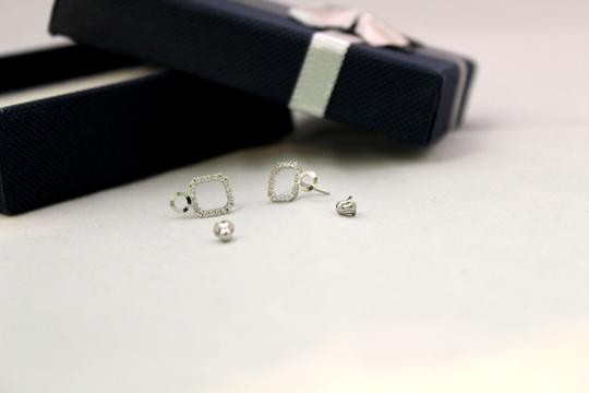 Other 14 KT White Gold woman CZ earring Image 2