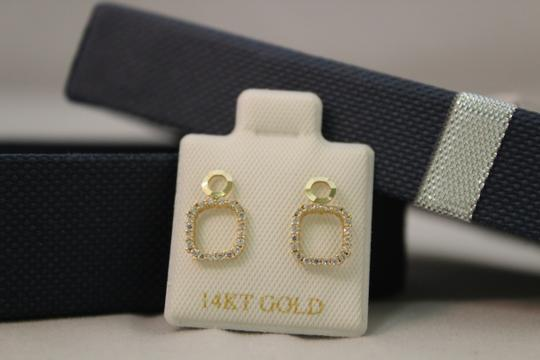 Other 14 KT White Gold woman CZ earring Image 5