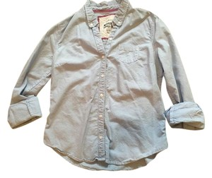 Mossimo Supply Co. Chambray Target Button Down Shirt Blue