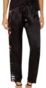 W118 by Walter Baker Capri/Cropped Pants Black/Red